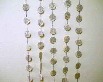 Paper Garland - Party Decor - Upcycled Book Garland - Made to Order