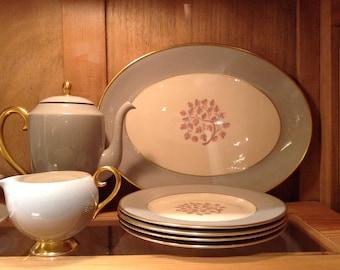 Vintage Mid Century Flintridge California Pottery Set of China, Dinnerware, Service for 4, Perfect Condition