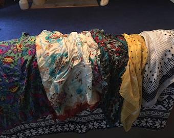 5 vintage silk scarves