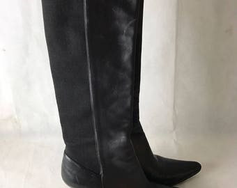 Luxury Leather Black Bally Boots