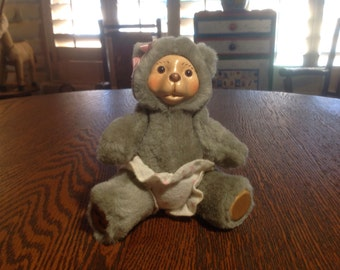 Vintage cute articluated Raikes little girl teddy bear