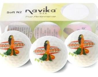 Hula Girl #5 Imprinted Golf Balls