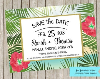 Save the Date - Beach or Destination wedding