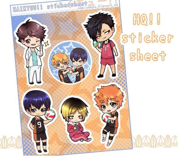 Haikyuu Manga Order: Haikyuu STICKERSHEET Kawaii Chibi Stickers Hinata Kageyama