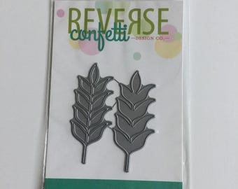 "Reverse Confetti ""Wheat"" Confetti Cuts Die - Brand New, In Original Packaging, Never Used - Perfect for Cards or Scrapbooking"