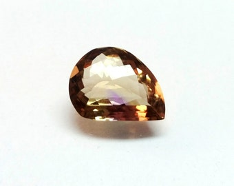 Loose Ametrine Gemstone / Ametrine Faceted Gemstone 17x13x8 mm 9.35 Carat