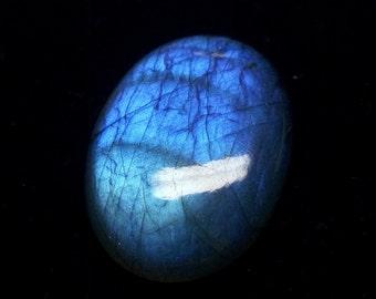 36x25x8 mm Blue Labradorite Pendant / Oval Labradorite Pendant / Cabochon Labradorite Pendant Stone / Huge Labradorite Pendant