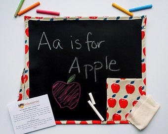 Apple Travel Chalkboard Kids - Travel Apple Kid's Chalkboard - Kid's Chalkboard - Apple Chalkboard - Chalkboard Mat - Kid's Travel Toys