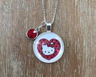 Hello Kitty Girl Charm Pink Necklace