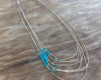 Vintage Sterling and Turquoise Necklace