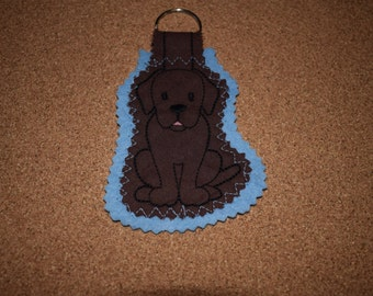 Labrador Keyring, Chocolate Labrador Keyring, Labrador Gift, Dog Keyring, Fabric Keyring, Labrador Dog Keyring, Keyring, Handmade Dog Gift
