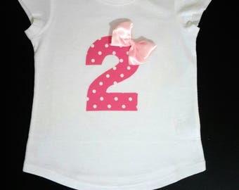 2nd Second Birthday girl Princess  top / t-shirt, Birthday top, 2nd Birthday outfit, girls Birthday t-shirt