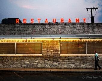Restaurant Neon - Neon Diner Sign Photograph