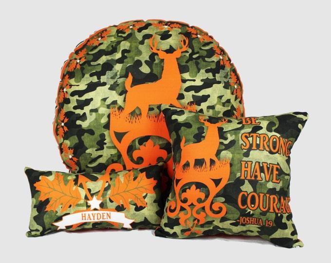 Camo Deer Style Floor Pouf Pillow