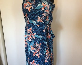 Vintage Hawaiian Sarong Dress - XL