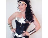 New DARK Wonder Superhero Woman Costume Bootcovers