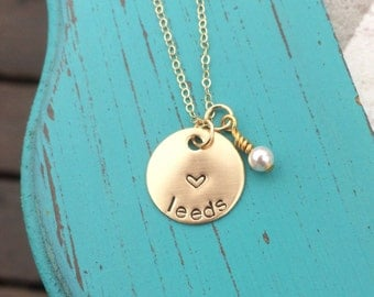 Missionary Necklace - Sister - Elder - Mom - Gold - Pearl Charm - Girlfriend - Gift for a Missionary Mom