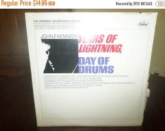Save 30% Today Vintage 1966 Vinyl LP Record Years of Lightning Day of Drums John F Kennedy Mint Condition Factory Sealed 6016