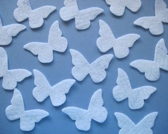 """Felt Die-Cut BUTTERFLIES -- 1-1/2"""" -- Available in different colors -- Great for crafts, wax dipping, decorating, etc."""