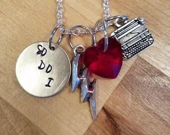 Flash-WestAllen hand stamped necklace-Barry Allen and Iris West