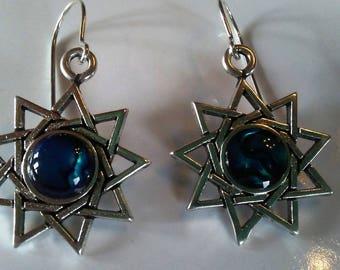 Nine Pointed Star Earrings E10523