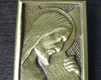 Brass Jesus Plaque, Brass Jesus Pendant