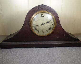 1920s WM L Gilbert Clock Company Normandy Chimes 2036 Wooden Mantle Clock Old Clocks Working Clock Chiming Clock Wood Clock Farmhouse Clock