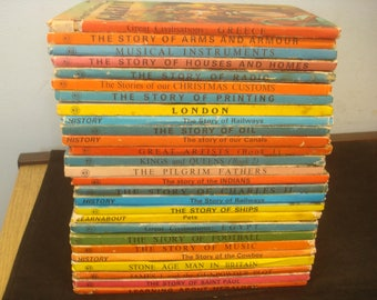 Set of 27 History Themed Ladybird Books.  Mostly Good-VG condition