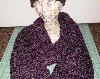 Super Warm Crocheted Infinity Scarf