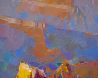 Grand Canyon, Landscape Original oil Painting on Canvas Handmade painting, 24 x 18 in, One of a kind