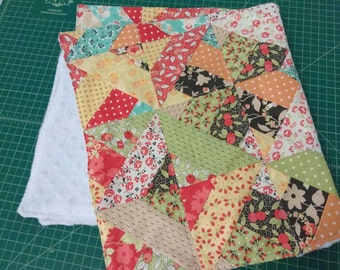 Modern Quilted Minky Blanket, minky baby quilt, minky quilt