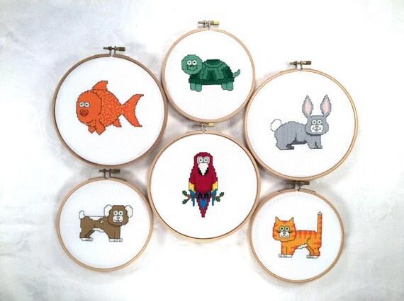 Knitting Room Fond Du Lac : Pet friends cross stitch pattern collection animal