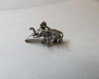 Vintage Sterling Silver Elephant Charm W #545