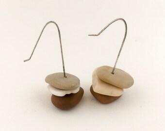 "Stone Earrings ""Shell & Stone"""