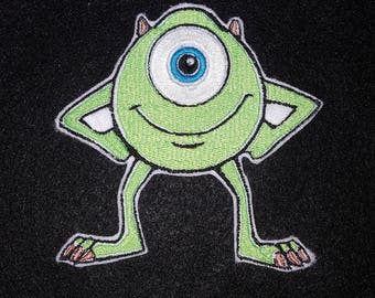 Green One Eyed Monster Iron on No Sew Embroidered Patch Applique