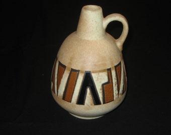 "Ruscha Keramik West German 1960s Vase - decor ""Sahara"""