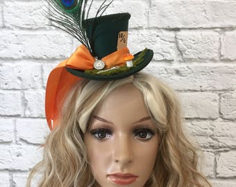 Mad Hatter Mini Top Hat, Alice in wonderland Mini Top Hat, Tea Party Mini Top Hat