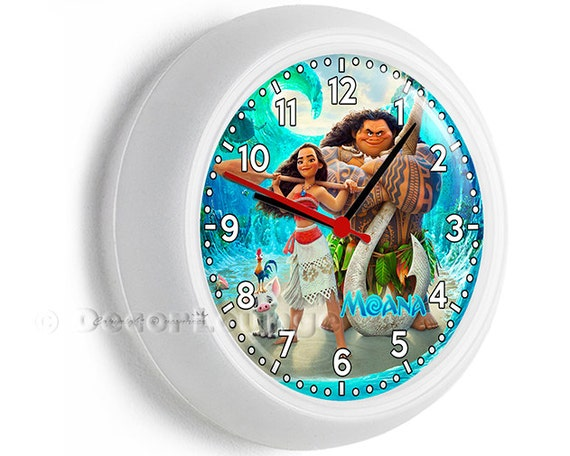Colorful Disney Moana  Decorative Bedroom Clock
