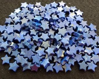 Vintage Lapis Lazuli 10-12mm Stars