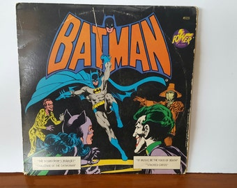 Vintage 1975 Power Records, Batman, The Dark Knight, National Periodical Publications,  Catwoman, The Joker, The Riddler, Scarecrow