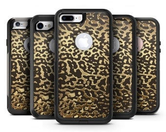 Dark Gold Flaked Animal v1 - OtterBox Case Skin-Kit for the iPhone, Galaxy & More