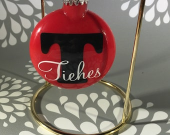 glitter ornament, Christmas ornament, custom ornament, personalized ornament, Christmas decoration, monogrammed ornament, family ornament,