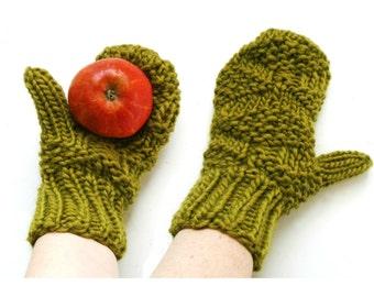 PDF Knitting Pattern - Wool Mitten Pattern