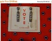 Santa Baby 30% Off 1960s Deadstock Novelty Election Earrings Vote Novelty Earrings Presidential Jewelry