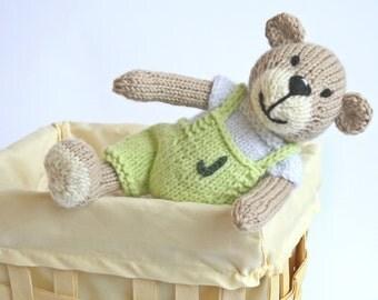 Personalized kids toy Plush teddy bear boy Baby shower gift Personalized toy bear plush doll baby toy handmade knitted bear toy