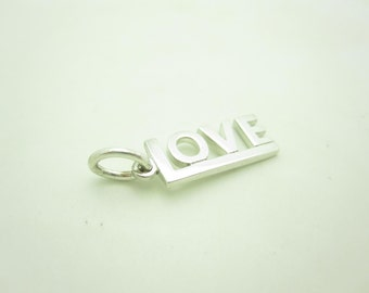 Tiffany & Co. Sterling Silver LOVE Charm For Necklace Or Bracelet