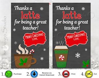 Modest image pertaining to thanks a latte christmas printable