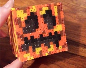 Minecraft Pumpkin 3D Cube Figure