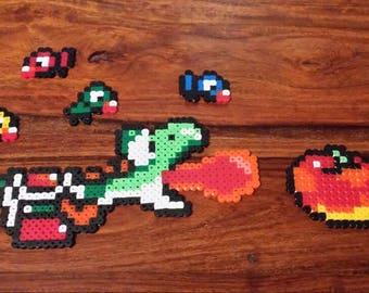 Yoshi Pixel Art Set