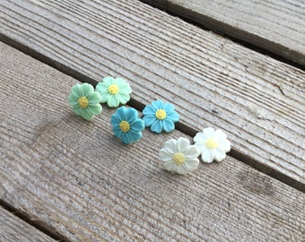 Daisy, Daisy earring Earrings, earring, daisies pastel flowers earrings